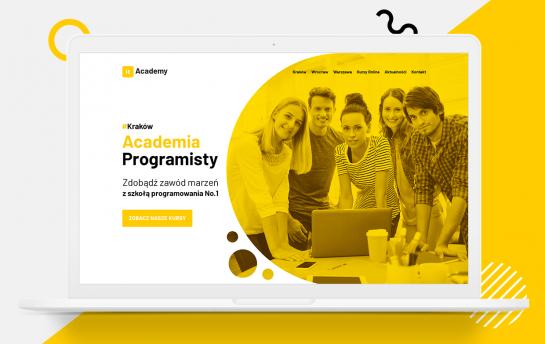 IT Academy - projekt strony internetowej